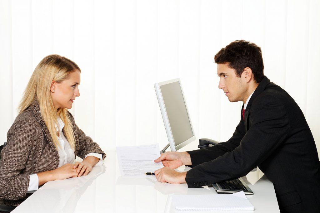 Beratung und Gespräch durch ne Personalberatung